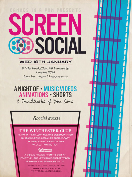 The Winchester Club - Screen Social Flyer