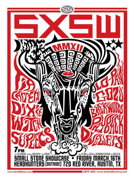 Small Stone Recordings - SXSW 2012 Flyer
