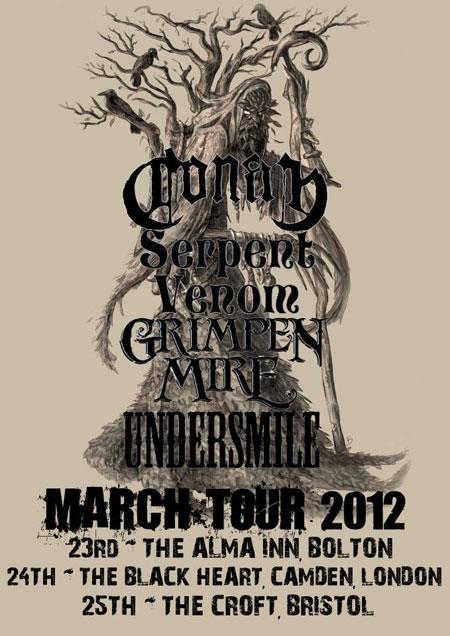Conan, Serpent Venom, Undersmile, Grimpen Mire - UK Tour 2012