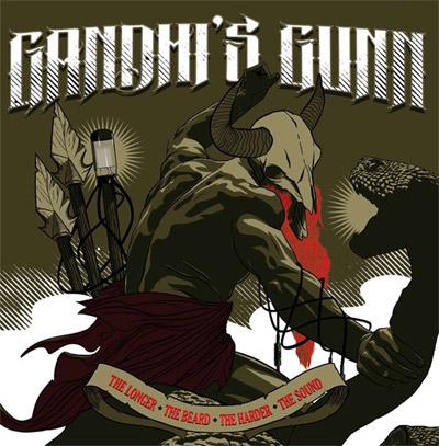 Gandhi's Gunn 'The Longer The Beard, The Harder The Sound' Artwork