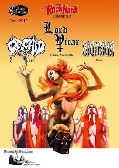 Orchid / Lord Vicar / Sigiriya - Euro Tour 2012 Flyer