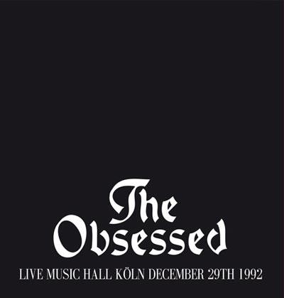 The Obsessed 'Live in Koln December 29th 1992' Artwork