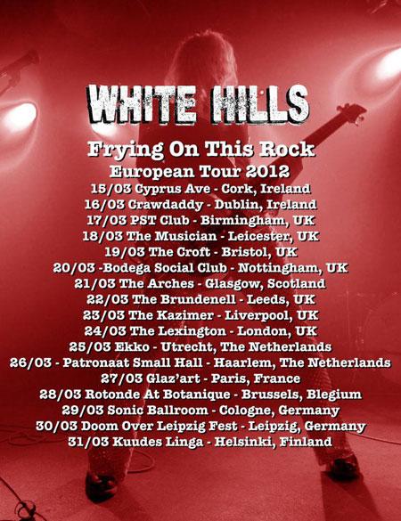 White Hills - Euro Tour 2012 Flyer