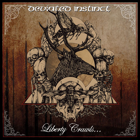 Deviated Instinct 'Liberty Crawls...' Artwork