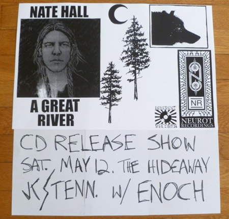 Nate Hall A Great River' CD Release Show Flyer