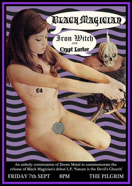 Black Magician - Album Release Gig Poster