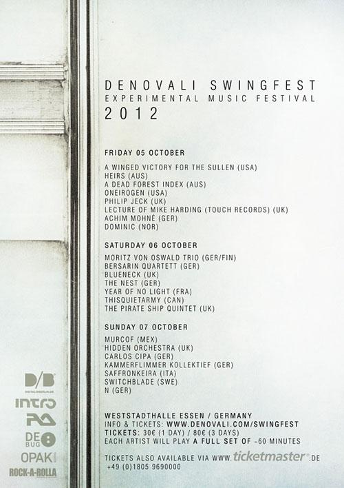 Denovali Swingfest 2012