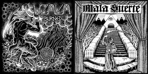 """Uzala/Mala Suerte - Split 7"""" Artwork"""