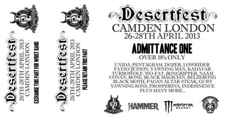 Desertfest 2013 - Ticket