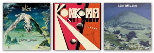 Ice Dragon / Konkoma / Lugubrum - Album Artwork