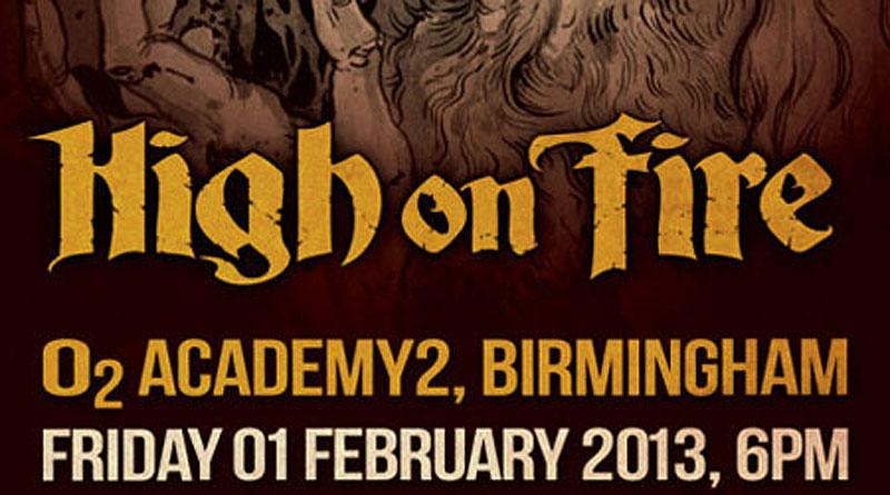 High On Fire / Jumping Jack / Lizzard / Alunah @ Academy2, Birmingham 01/02/2013