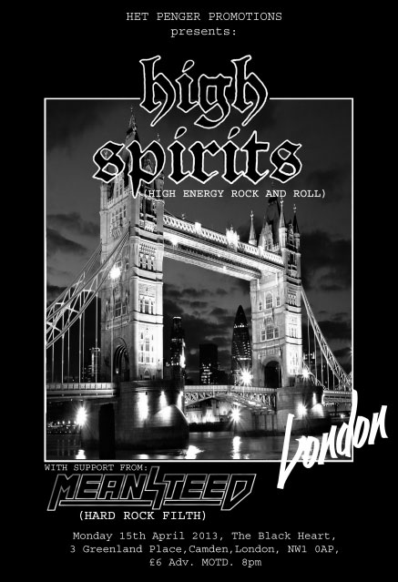 High Spirits - 15th April - London