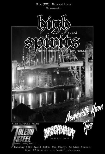 High Spirits - 16th April - Newcastle-upon-Tyne