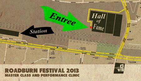 Roadburn 2013 - Hall Of Fame Map