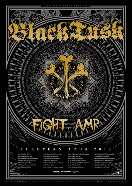 Black Tusk / Fight Amp - Euro Tour Poster 2013