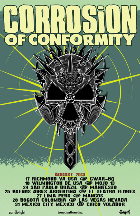 Corrosion Of Conformity - Aug 2013 Tour Flyer