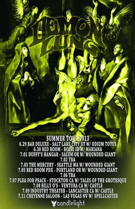 Demon Lung - Summer Tour 2013 Flyer
