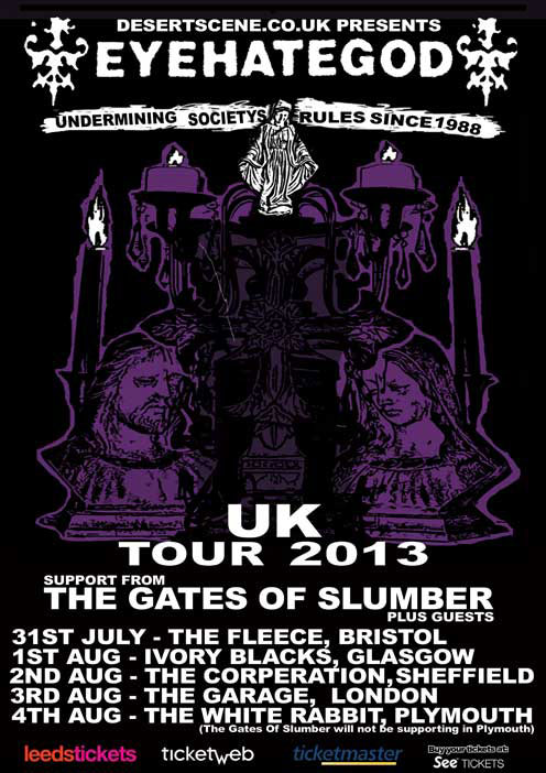 EyeHateGod - UK Tour 2013