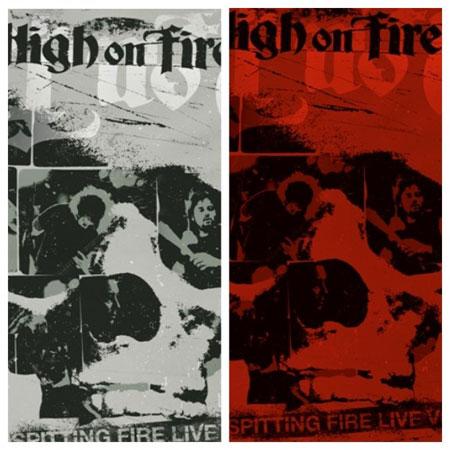 High On Fire 'Spitting Fire Live - Vol 1 & 2' Artwork