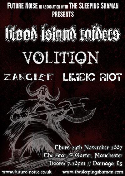 Blood Island Raiders / Volition / Zangief / Limbic Riot - Manchester 29/11/07