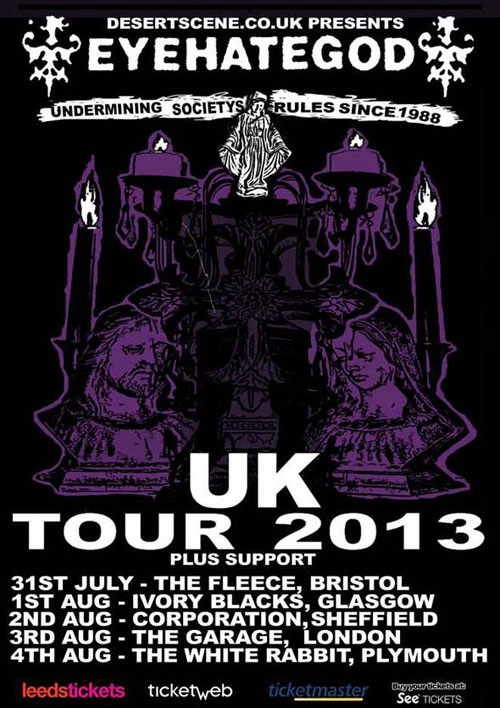 EyeHateGod UK Tour 2013
