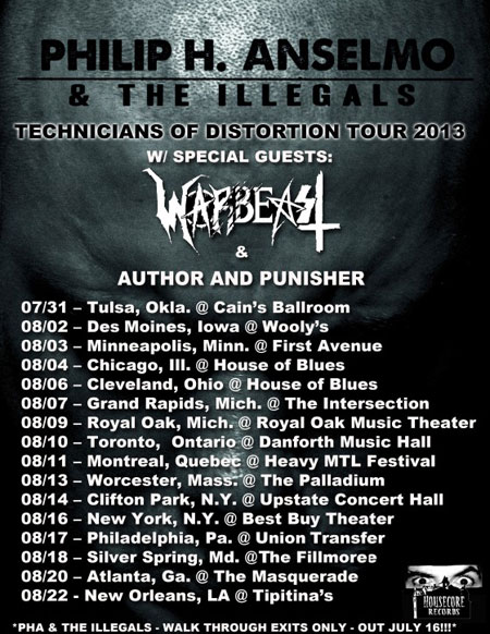 Technicians Of Distortion Tour 2013