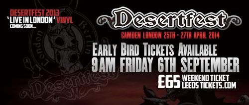 Desertfest 2014 - Early Bird Tickets