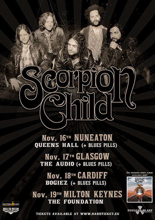 Scorpion Child & Blues Pills UK Tour 2013