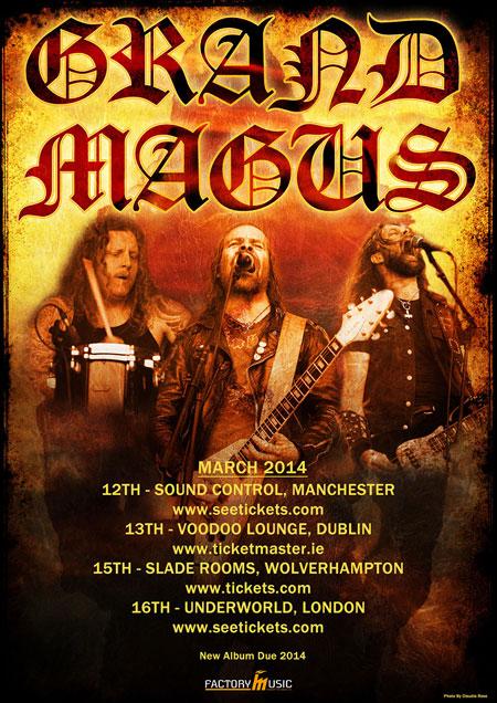 Grand Magus - UK/IRE Tour 2014