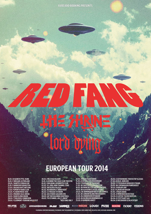 Red Fang - Euro Tour 2014