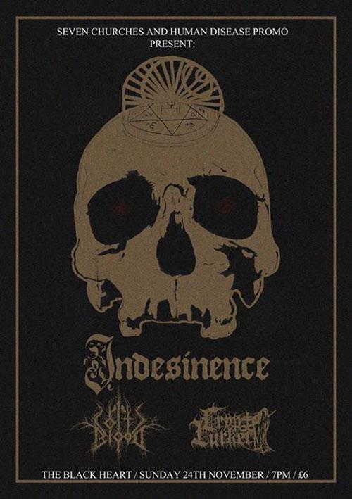 Indesinence / Coltsblood / Crypt Lurker @ The Black Heart, London 24/11/2013