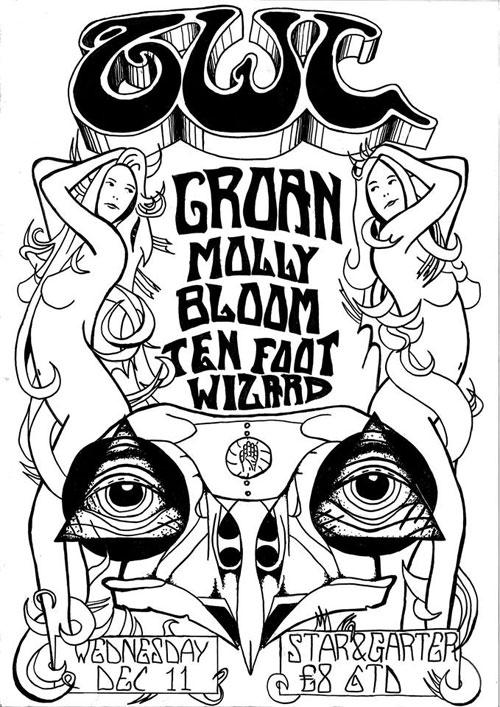 Ovvl / Groan / Molly Bloom / Ten Foot Wizard @ The Star & Garter, Manchester 11/12/2013