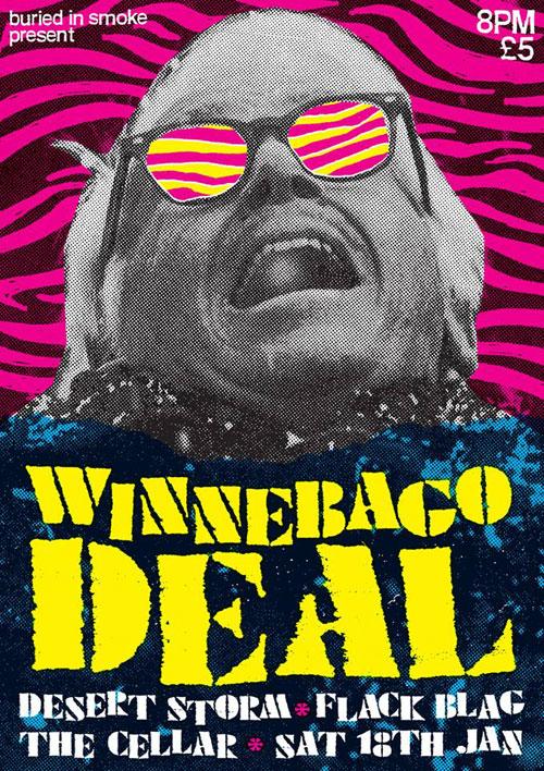 Winnebago Deal / Desert Storm / Flack Blag @ The Cellar, Oxford 18/01/2014