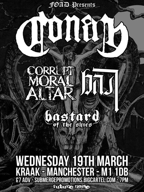 Conan, Corrupt Moral Altar, Bast & Bastard of the Skies @ Kraak 19/03/2014