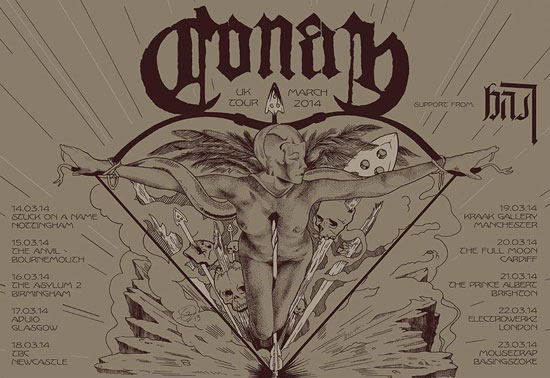 Conan / Bast - UK Tour 2014