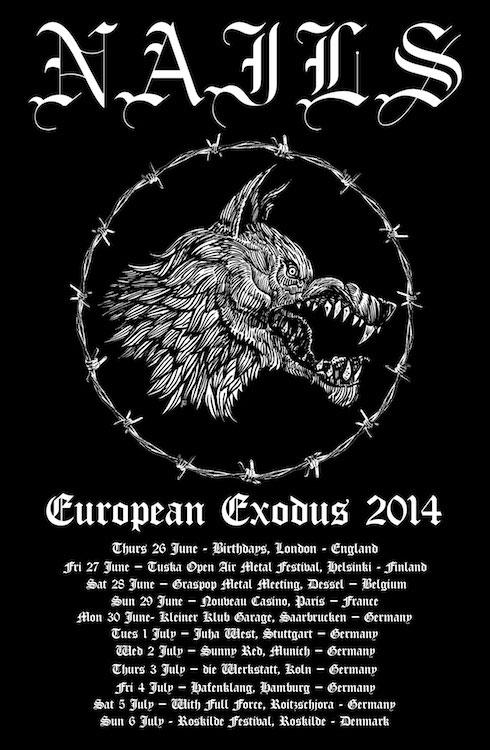Nails - Euro Tour 2014