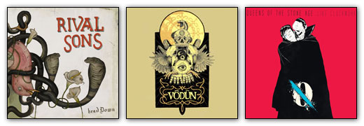 Rival Sons / Vodun / Queens Of The Stone Age - Artwork