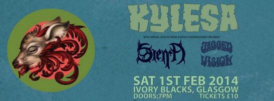 Kylesa / Sierra / Jagged Vision / Isak @ Ivory Blacks, Glasgow 01/02/2014