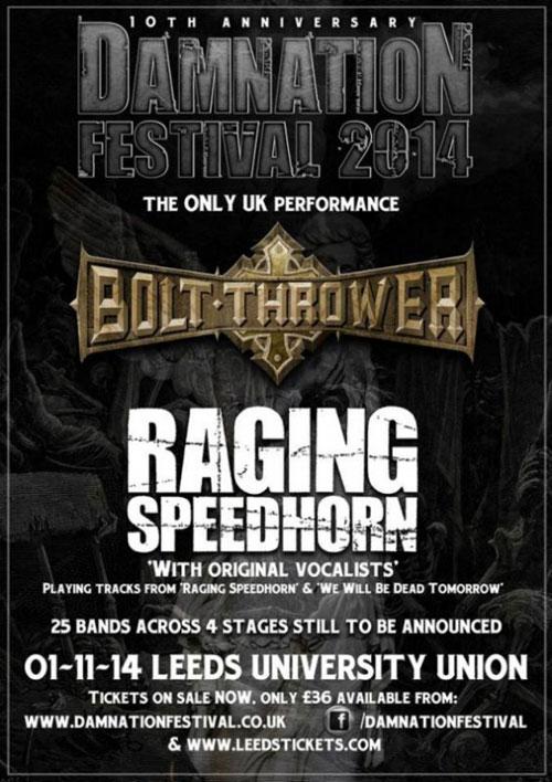 Damnation 2014 - Bolt Thrower & Raging Speedhorn