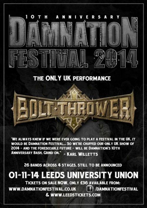 Damnation Festival 2014 - Bolt Thrower