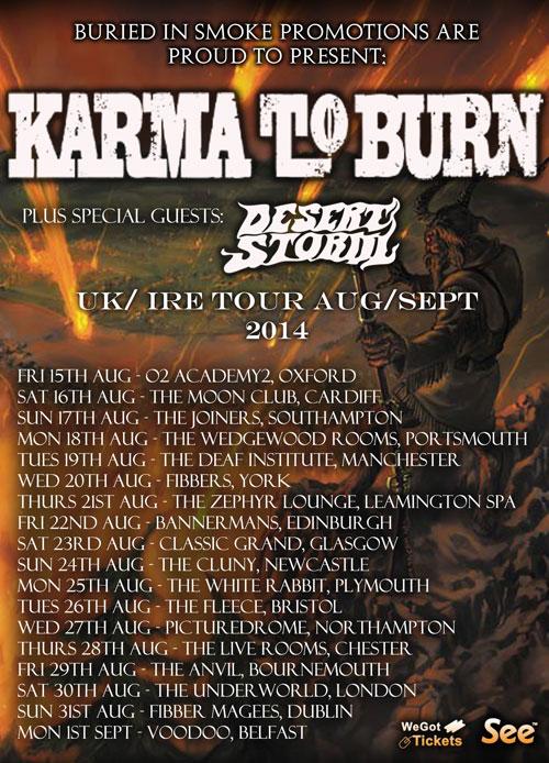 Karma To Burn - UK Tour 2014