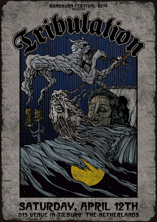 Roadburn 2014 - Tribulation Poster by Costin Chioreanu