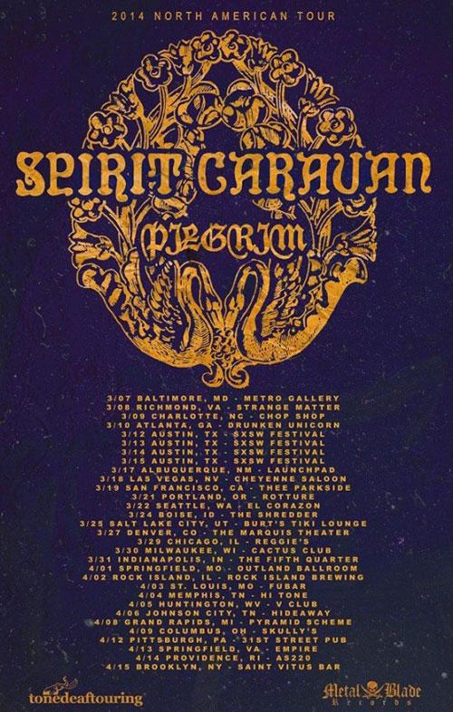 Spirit Caravan / Pilgrim - US Tour 2014