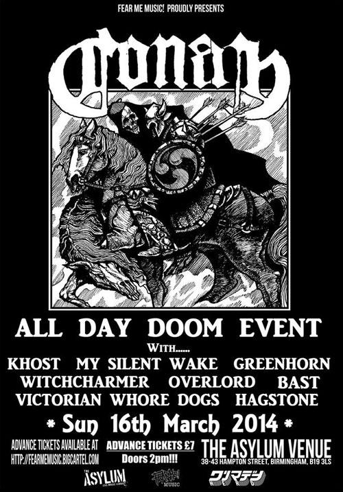 All Day Doom Event @ The Asylum 2, Birmingham 16/03/2014