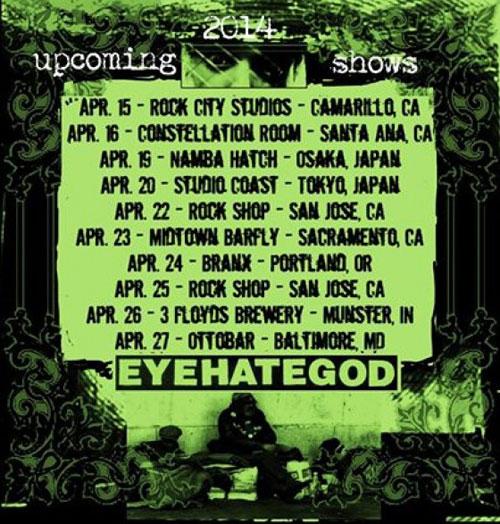 EyeHateGod - Gigs 2014
