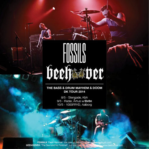 Fossils & Beehoover - The Bass & Drum Mayhem & Doom Tour DK 2014