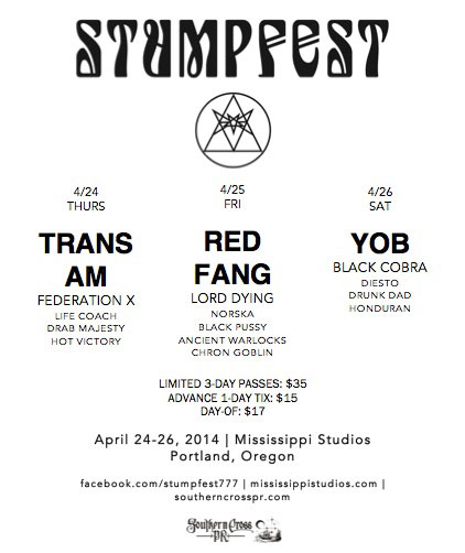 Stumpfest 2014 - Full Lineup