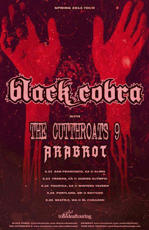 Black Cobra - US West Coast Tour 2014