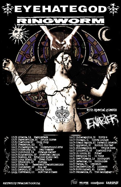 EyeHateGod / Ringworm / Enabler - US Tour 2014