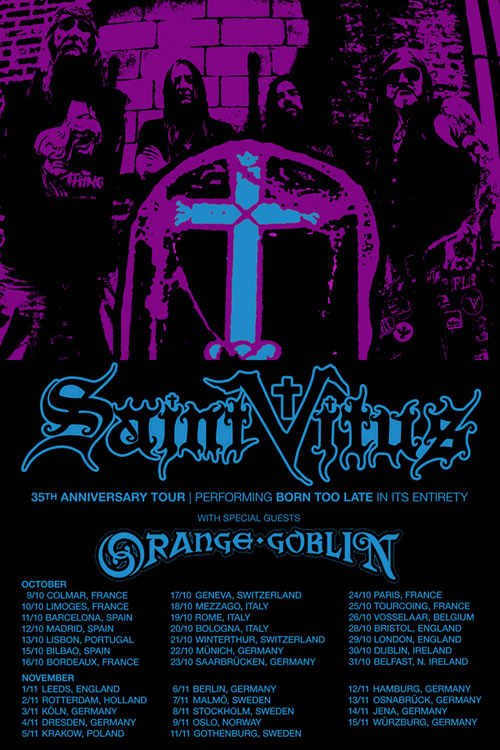 Saint Vitus / Orange Goblin - Euro Tour 2014